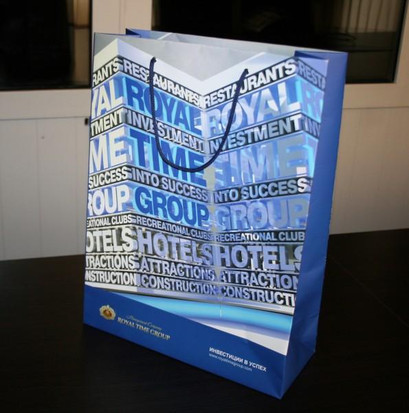 Пакет бумажный с ламинацией