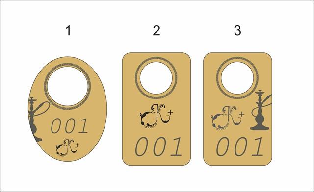 Дизайн-макет номерка