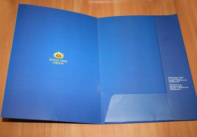 Печать бумажной папки