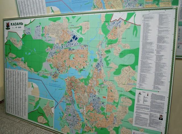 Административная карта Казани