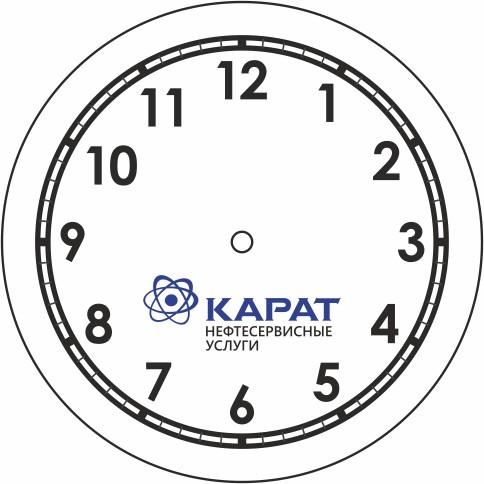 Обрисовка логотипа + подготовка макета часов